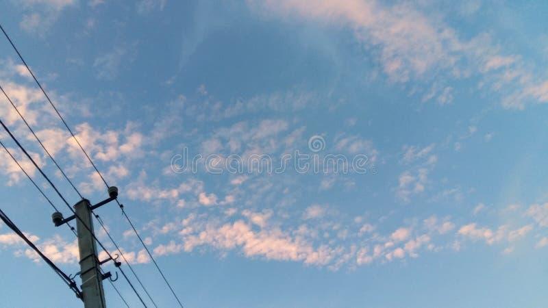Fantastisk molnig himmel royaltyfri foto