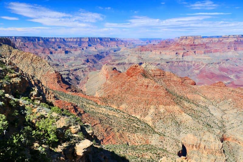 Fantastisk naturbakgrund med den Grand Canyon sikten royaltyfria bilder