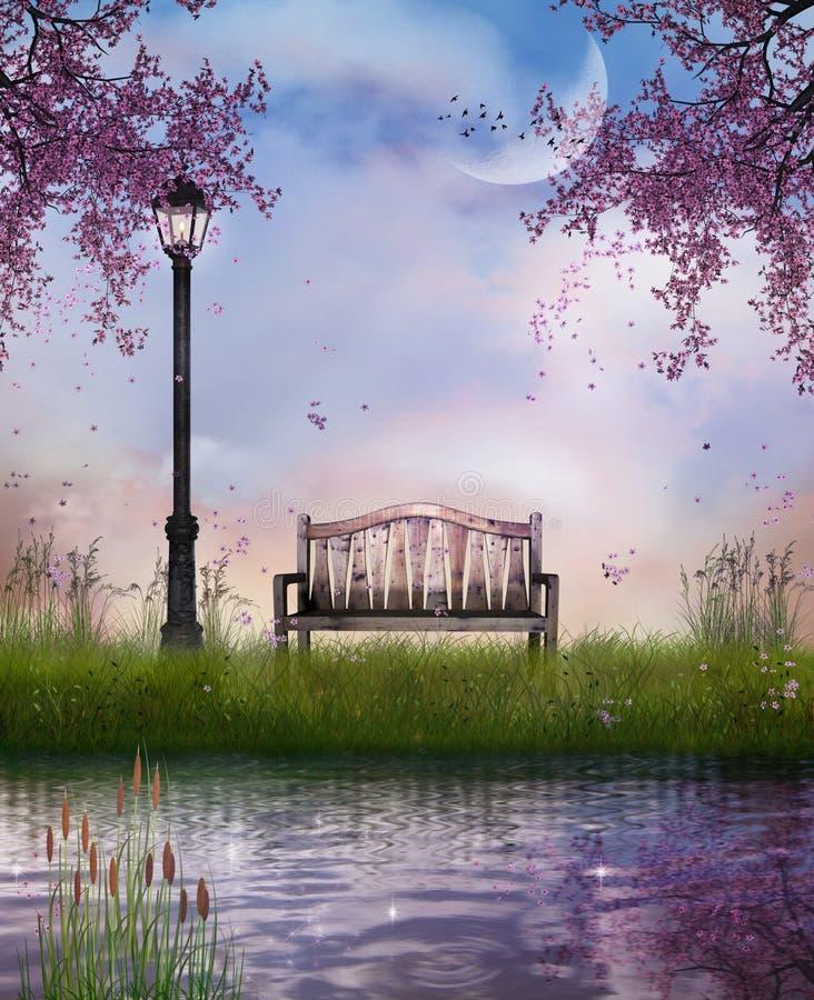 fantastisk park royaltyfri illustrationer