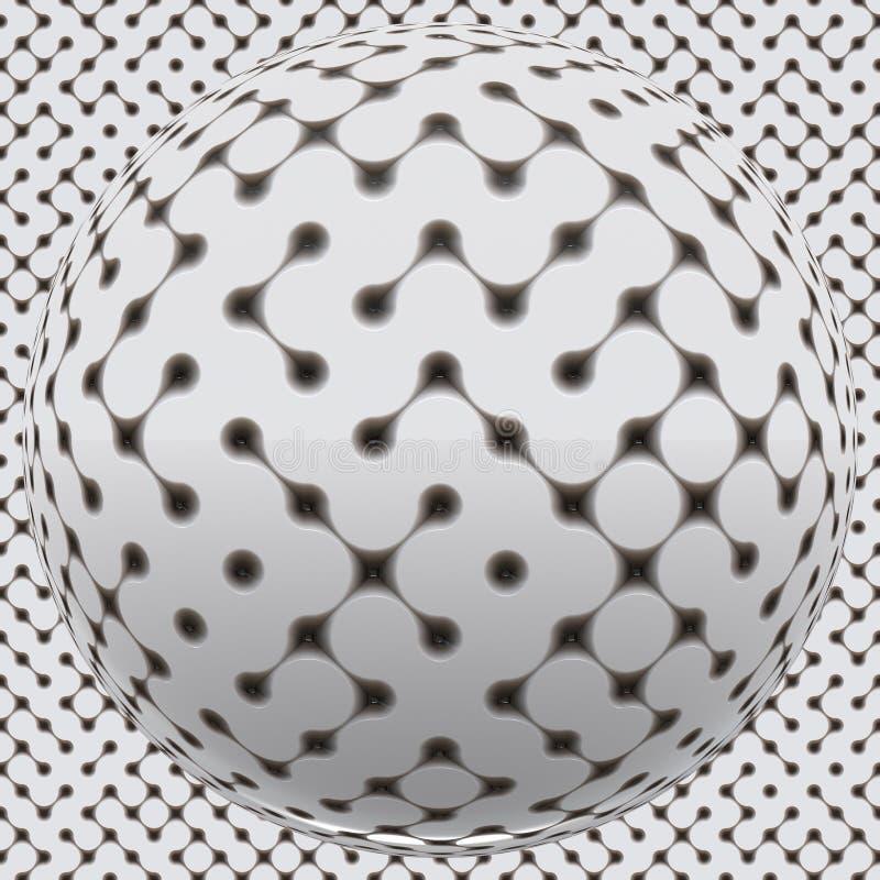 fantastisk seamless sphereyttersida stock illustrationer