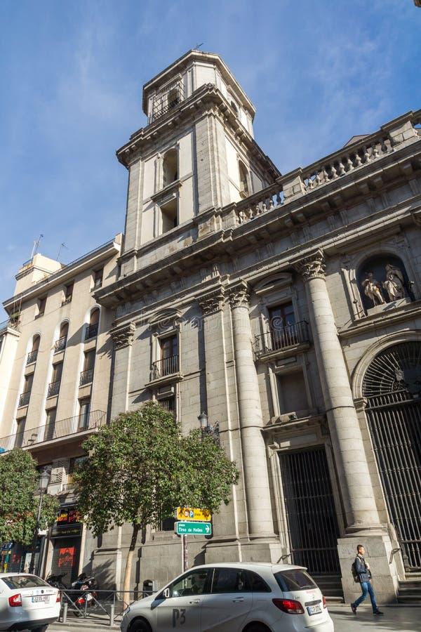 Fantastisk sikt av församlingen vår kyrka för dam Good Advice i stad av Madrid, Spanien fotografering för bildbyråer