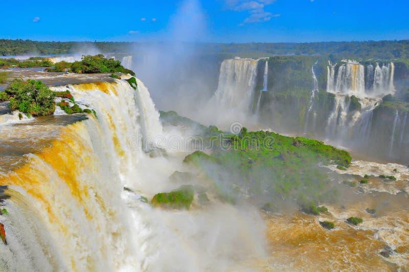 Fantastisk sikt av Iguazu Falls royaltyfria bilder