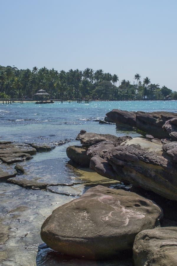 Fantastisk sikt från bungalowhavet arkivfoto
