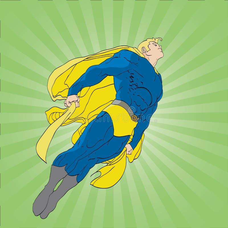 Fantastisk Superhero vektor illustrationer
