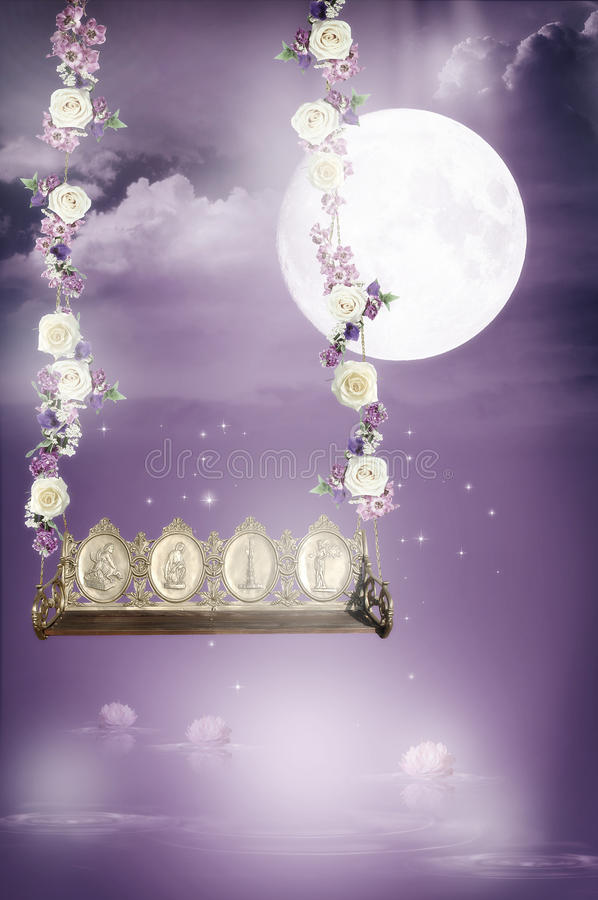 fantastisk swing royaltyfri illustrationer