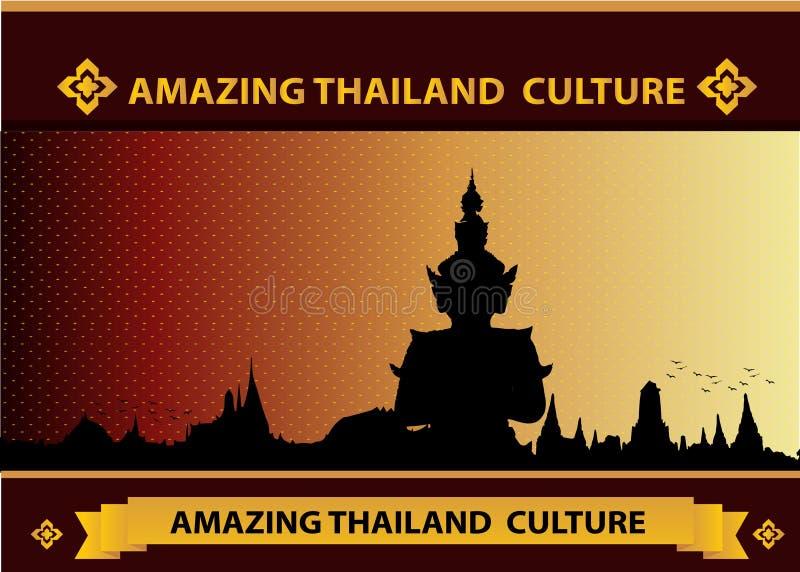 Fantastisk thailändsk tempel och kultur vektor illustrationer