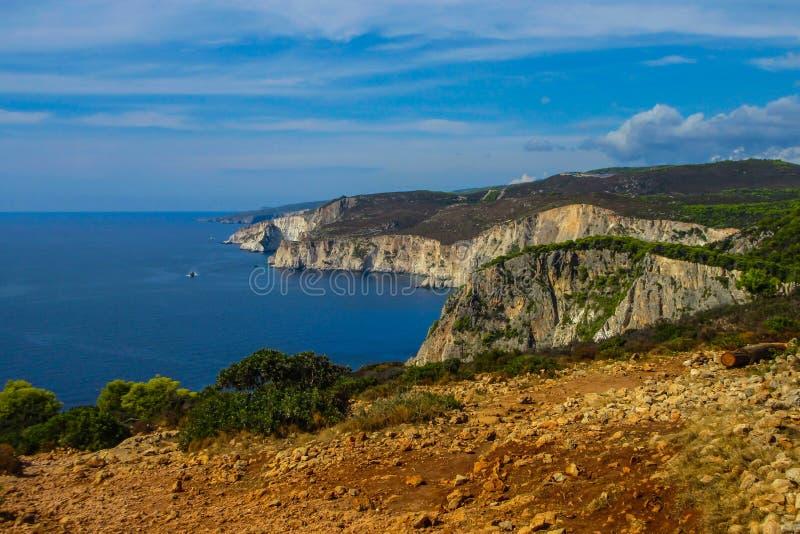 Fantastisk utkik på Keri udde, Zakynthos royaltyfria foton