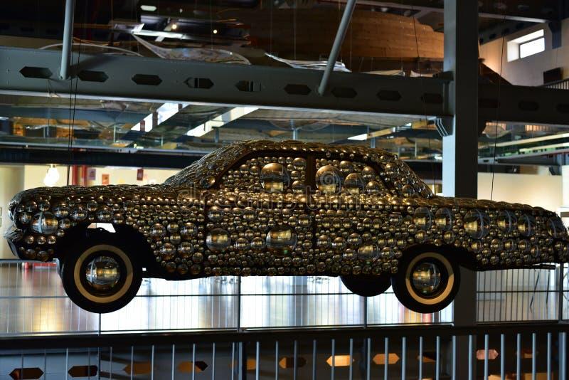 Fantastiska Art Decor, dekorerad klassisk bil arkivbild