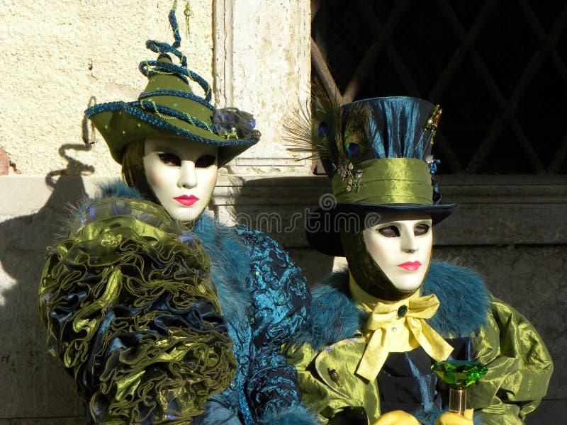 Fantastiska maskeringar, karneval av Venedig royaltyfri bild