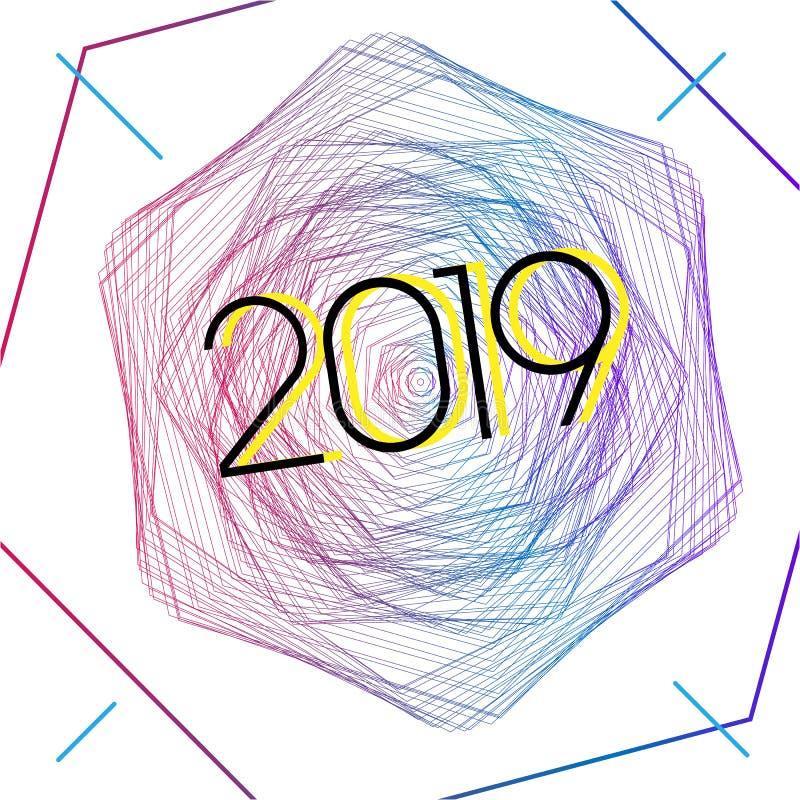 2019 fantastiska moderna stil royaltyfri illustrationer