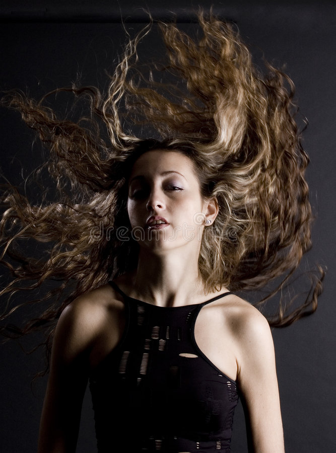fantastiskt hår royaltyfria foton