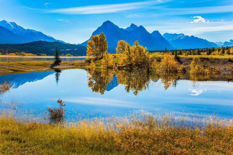 Fantastyczny Abraham jezioro zdjęcia stock