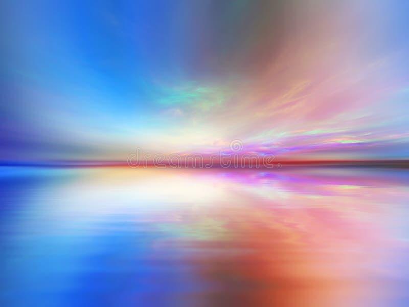 fantastyczny krajobraz ilustracji