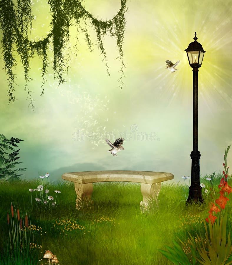 fantastyczny park ilustracja wektor