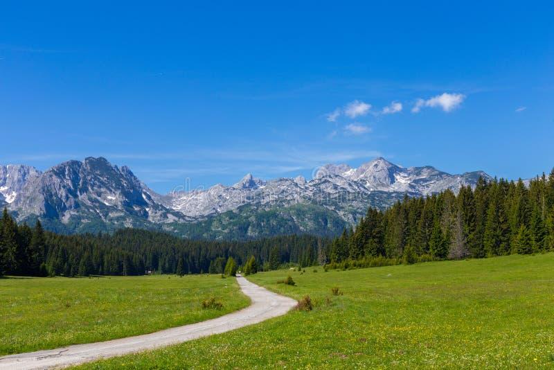 Fantastyczny pasmo górskie Miejsce sławny miejsca Durmitor park narodowy, Bałkany Wioska Zabljak, Montenegro, Europa zdjęcie stock