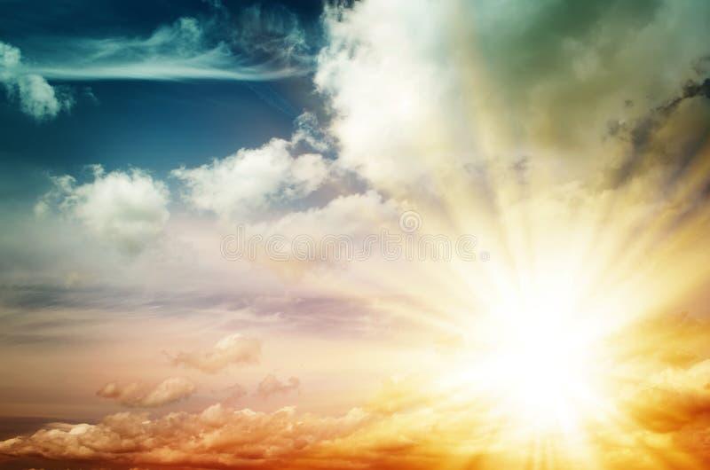 Fantastyczny stubarwny niebo obraz royalty free