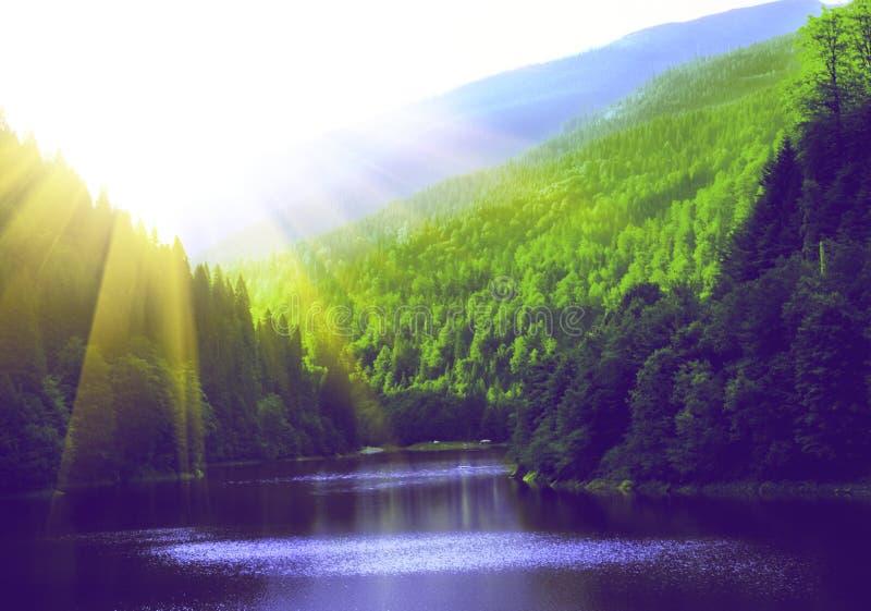 Fantastyczny widok górski obrazy royalty free