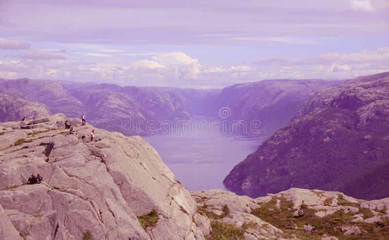 Fantastyczny widok Norweski fjord zdjęcie stock