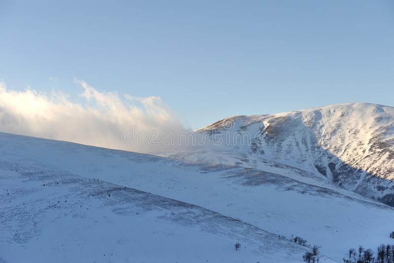 Fantastyczny zima krajobraz fotografia royalty free