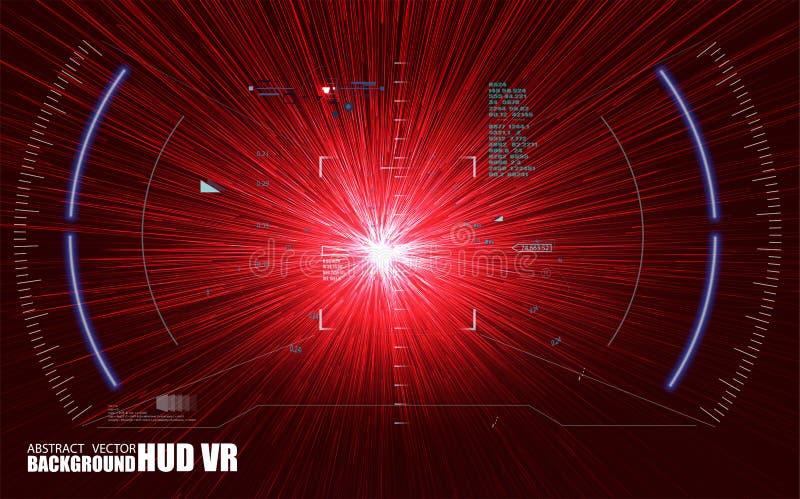 fantastyka naukowa HUD Futurystyczny Rozjarzony pokaz Vitrual rzeczywistości technologii ekran royalty ilustracja