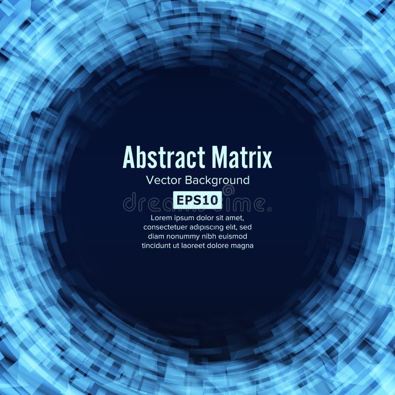 Fantastyka naukowa technologii Abstrakcjonistyczny Matrycowy Futurystyczny tło royalty ilustracja