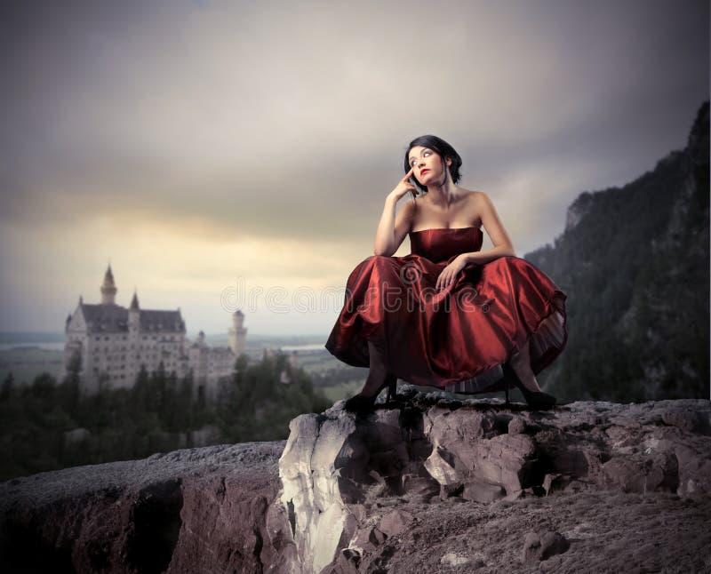 Download Fantasy stock image. Image of girl, elegant, house, sitting - 16647709