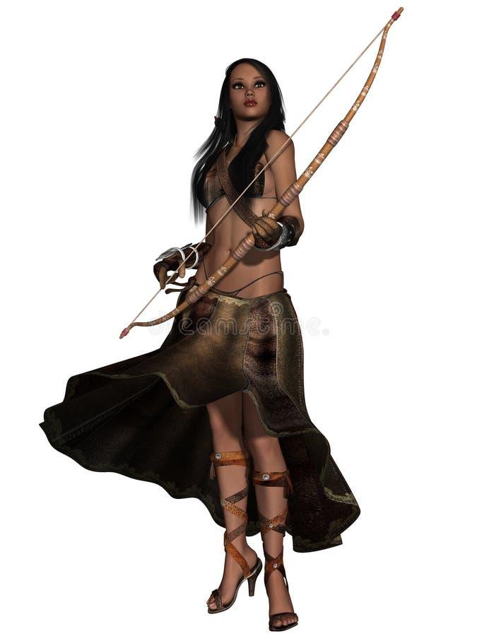 Fantasy Action Figure. 3d render of a Fantasy Action Figure stock illustration