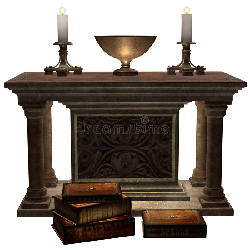 Download Fantasy Altar With Books Stock Photo - Image: 19358690