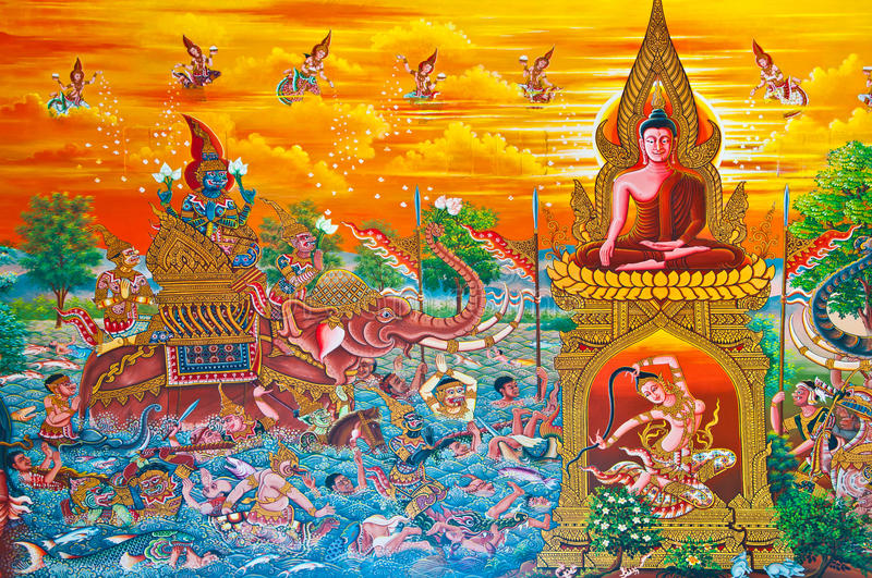 Download Fantasy art paint stock illustration. Illustration of buddhism - 22766737
