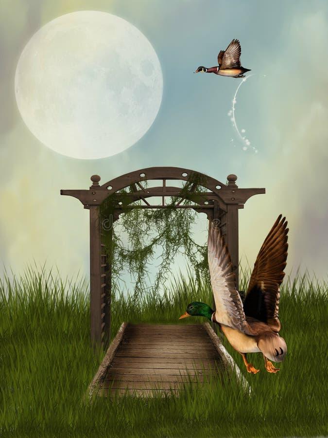 Fantasy background vector illustration