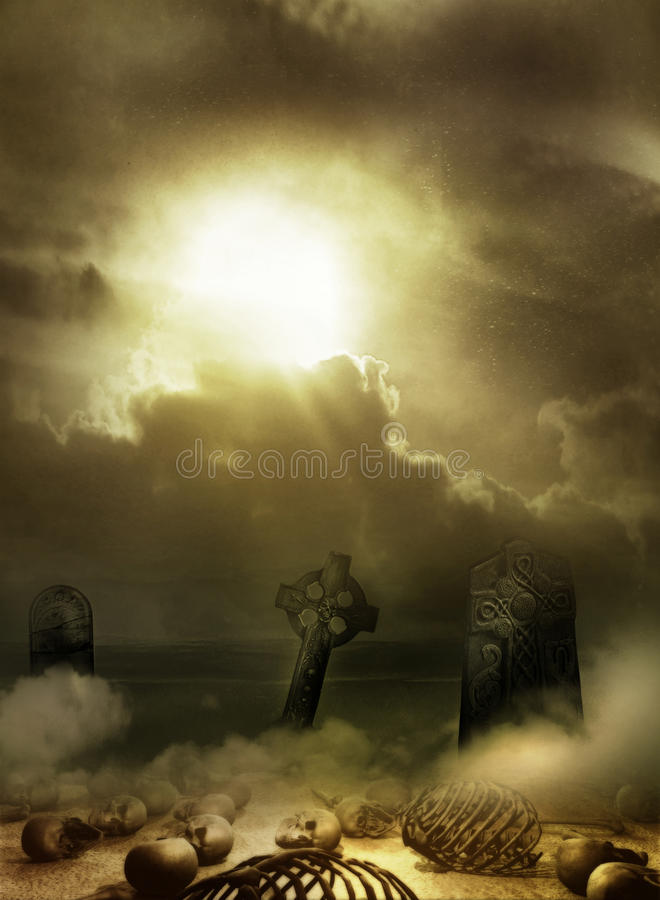 Download End of the day stock illustration. Illustration of spooky - 30201343