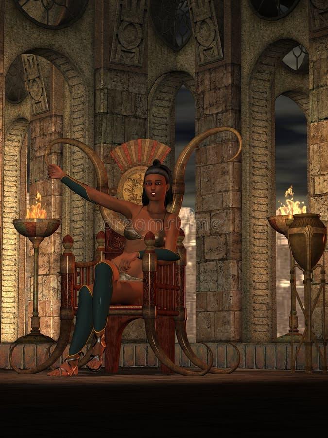 Download Fantasy barbarian queen stock illustration. Illustration of rendered - 18863761