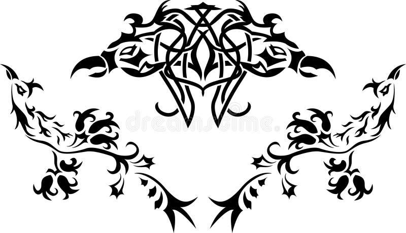 Download Fantasy birds stencil stock vector. Image of bird, fantasia - 17322772