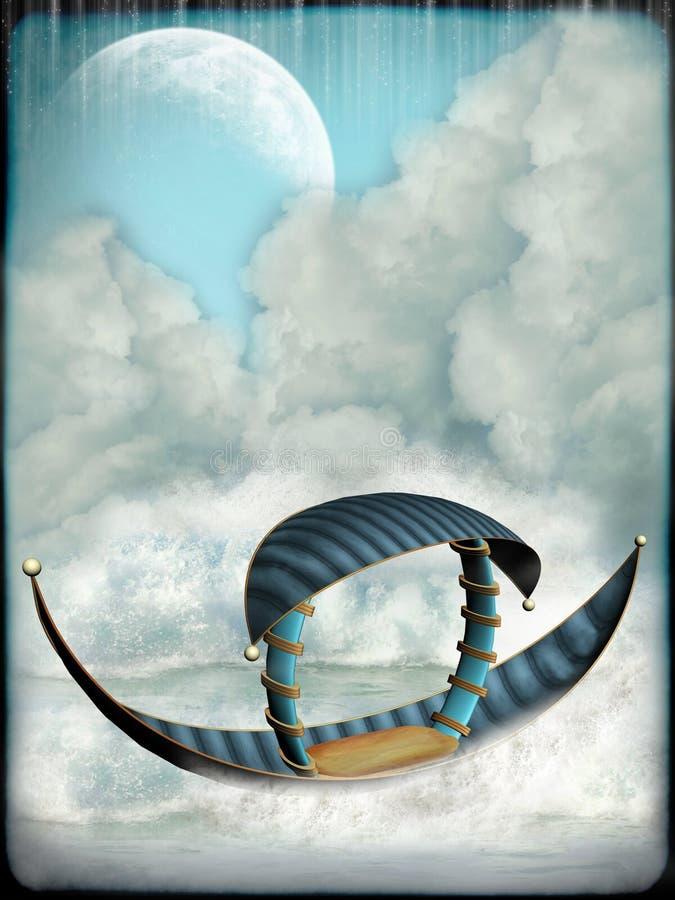 Download Fantasy boat stock illustration. Image of fantasy, lighting - 25120223