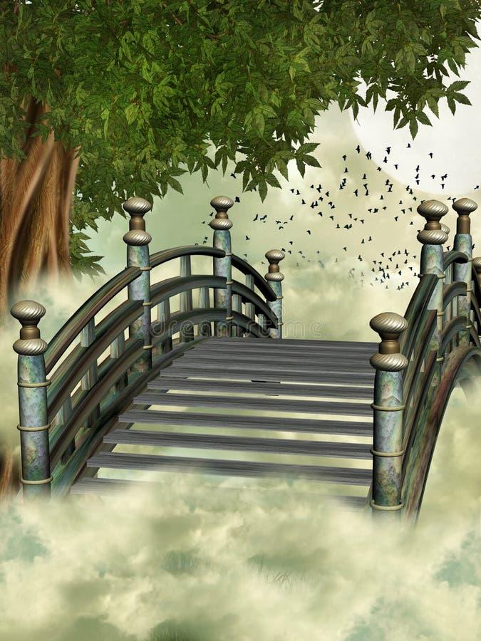 Fantasy bridge vector illustration