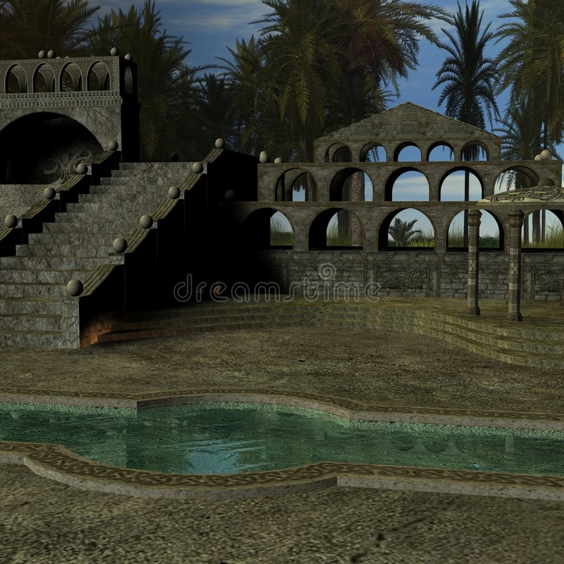 Fantasy Building. 3D Render of an Fantasy Building vector illustration