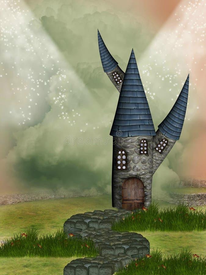 Download Fantasy castle stock illustration. Image of digital, amazing - 22294189