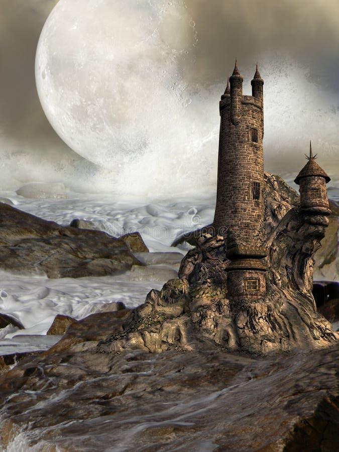 Download Fantasy castle stock illustration. Image of colors, mist - 8983729