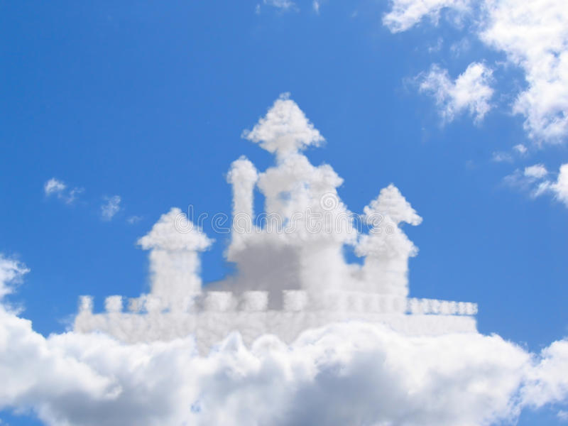 Download Fantasy castle in clouds stock image. Image of land, world - 9809265