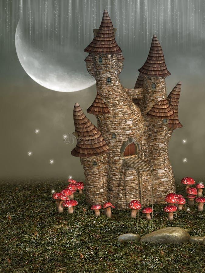 Fantasy castle vector illustration