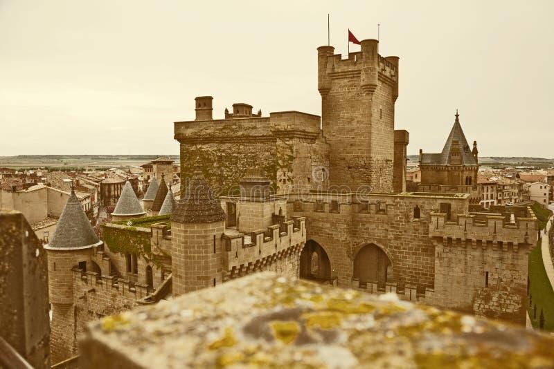 Fantasy castle. Toned image royalty free stock image