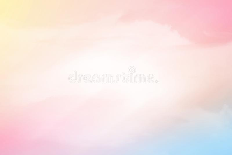 Fantasy cloudy sky with pastel gradient color, abstract background. Fantasy cloudy sky with pastel gradient color, nature abstract background royalty free stock image