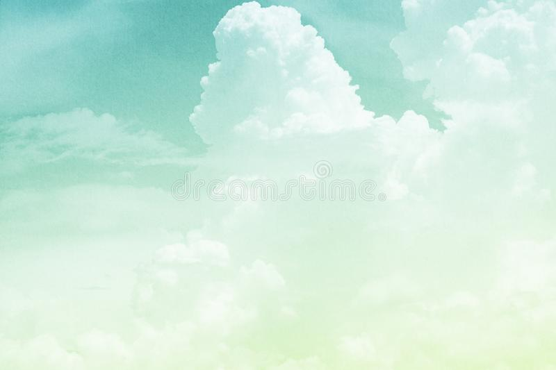 Fantasy cloudy sky with pastel gradient color and grunge texture, abstract background. Fantasy cloudy sky with pastel gradient color and grunge texture, nature royalty free stock photos