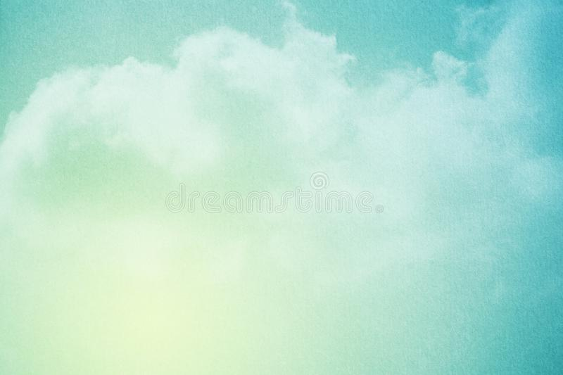 Fantasy cloudy sky with pastel gradient color and grunge texture, nature background. Fantasy cloudy sky with pastel gradient color and grunge texture, nature stock photo