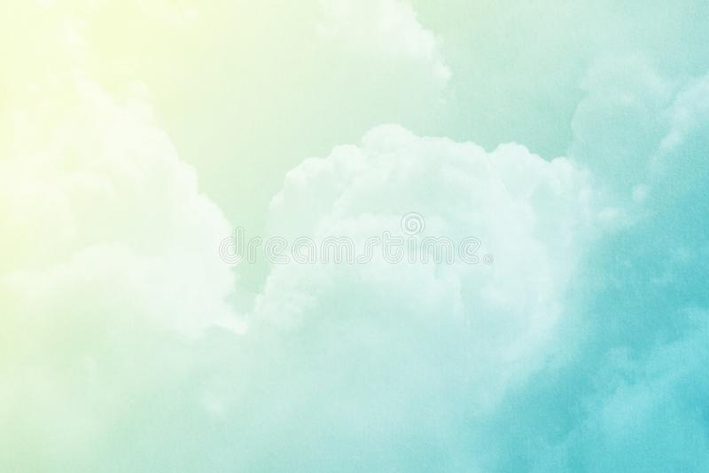 Fantasy cloudy sky with pastel gradient color and grunge texture, nature background. Fantasy cloudy sky with pastel gradient color and grunge texture, nature stock photography