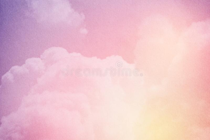 Fantasy cloudy sky with pastel gradient color and grunge texture, nature background. Fantasy cloudy sky with pastel gradient color and grunge texture, nature stock images