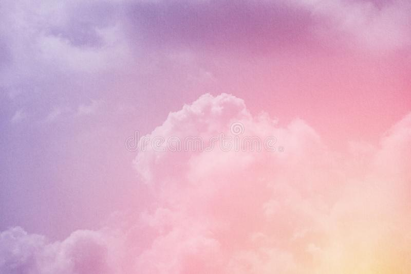 Fantasy cloudy sky with pastel gradient color and grunge texture, nature background. Fantasy cloudy sky with pastel gradient color and grunge texture, nature royalty free stock images