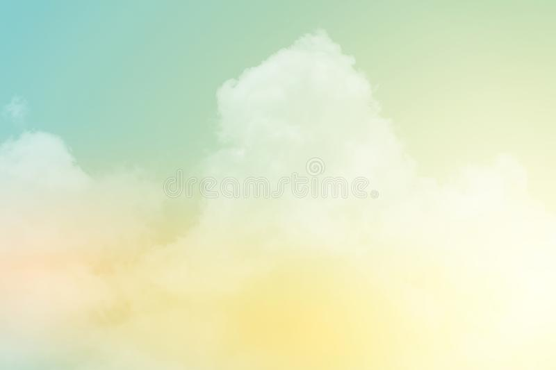 Fantasy cloudy sky with pastel gradient color, nature background. Fantasy cloudy sky with pastel gradient color, nature abstract background stock image