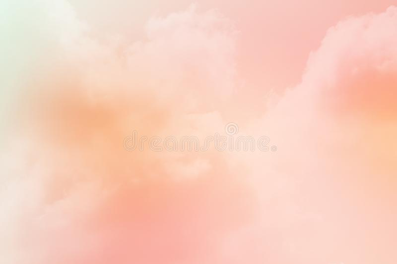 Fantasy cloudy sky with pastel gradient color, nature background. Fantasy cloudy sky with pastel gradient color, nature abstract background royalty free stock image