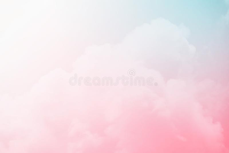 Fantasy cloudy sky with pastel gradient ,abstract background. Fantasy cloudy sky with pastel gradient , nature abstract background stock photo